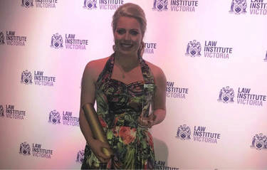 LIV awards: Erin Ritchie wins Law Student of the Year