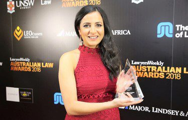 Marianne Marchesi - 2018 Australian Law Awards winner
